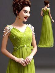 V-neck Long Prom Dress 150525tb19