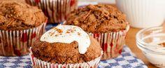 Wortel-noten muffins - Makkelijk en snel. Heerlijk bij een kop verse koffie of thee.