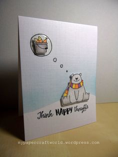 Guest Designing at Simon Says Stamp Wednesday Challenge – November 2017 – Week 3 Cas Christmas Cards, Bear Card, Christmas Drawing, Mft Stamps, Marianne Design, Animal Cards, Winter Cards, Card Sketches, Scrapbook Cards