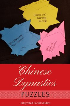 Assess what your students know in a unique way. These easy to cut puzzles contain the information students need to know about each major dynasty. Large group, pair, or individual activity - students will enjoy it no matter how you choose to complete them. #tptpins #teacherspayteachers #worldhistory #asianhistory #gamesintheclassroom