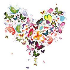 Butterfly Heart Cross Stitch Pattern