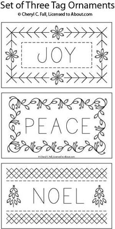 Tag Ornaments You Can Embroider