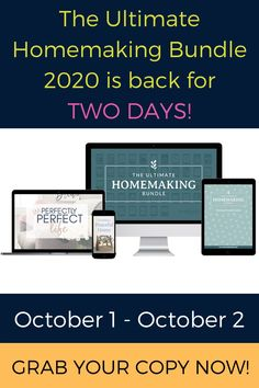 The Ultimate Homemaking Bundle is for sale, but for two days only - October 1 and October 2. Thinking of buying yourself one? Read this first!
