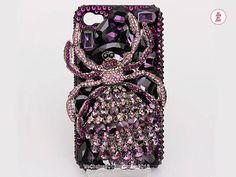 Free Phone Case & Luxury Huge Gems Spider by WeChoice2013 on Etsy, $23.00