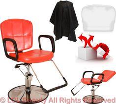 1 x Barber Chair. Chair Back can be Easily Adjusted. Vintage Salon Decor, Salon Equipment, Barber Chair, Chair Backs, Salon Ideas, Hair Shampoo, Leather Cover, Recliner, Salons