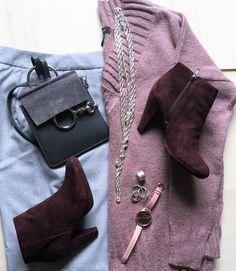 Rosa und Grau Outfit!
