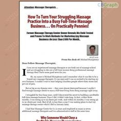 Highly Successful Massage Therapist Releases His Proven, Massage Practice Building System You Can Use To Quickly Generate Loads Of New Massage Clients Even If You Have Pennies In Your Pockets And No Marketing Experience See more! : http://get-now.natantoday.com/lp.php?target=massagebus