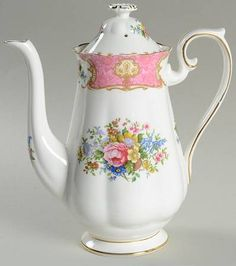 Royal Albert Lady Carlyle Small Coffee Pot & Lid