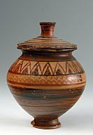 Pyxis with lid clay Protogeometric period 10th c. BC