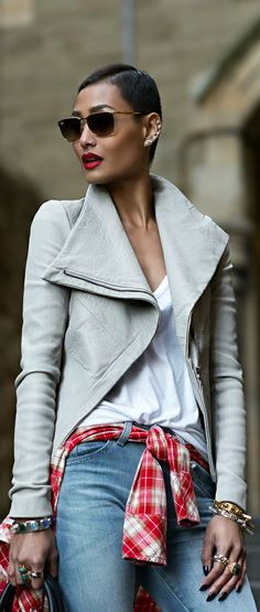 Fashion ● Denim On The Street  <3
