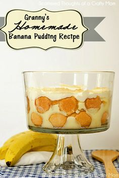The Best Homemade, from Scratch, Banana Pudding Recipe. #banana #pudding