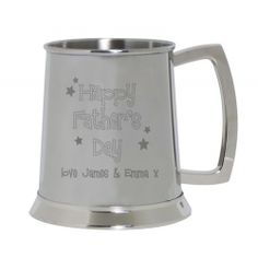 Engraved Happy Father's Day  Tankard  from Personalised Gifts Shop - ONLY £29.99