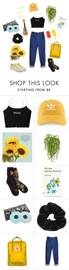 """90's grunge"" by nicole-barros-1 on Polyvore featuring adidas, DutchCrafters, Nearly Natural, Été Swim, Simon & Schuster, Miss Selfridge, Fjällräven, Lee and Vans"