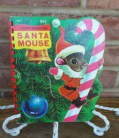 Santa Mouse Michael Brown HTF Vintage Sturdi Contour Book 1966