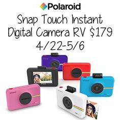 Enter the Polaroid Snap Touch Instant Digital Camera Giveaway. You can also enter the other giveaways and check out the great hints and tips.