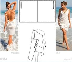 Simple Wrap Beach Dress with scoop back Diy Clothing, Sewing Clothes, Clothing Patterns, Dress Patterns, Sewing Patterns, Fashion Sewing, Diy Fashion, Fashion Outfits, Costura Diy