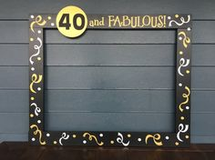 Hey, I found this really awesome Etsy listing at https://www.etsy.com/listing/294243859/30th-photo-booth-frame-40th-birthday