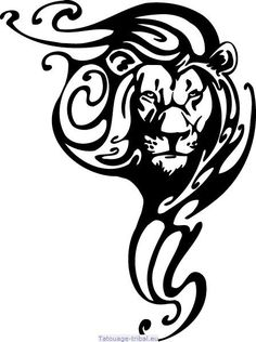 20 free lion and leo tattoos + meaning. Designs include tribal lion tattoos, lion heads & lion of Judah. Tribal Lion Tattoo, Tribal Shoulder Tattoos, Lion Tattoo Design, Lion Design, Tribal Tattoo Designs, Tribal Drawings, Tattoo Shoulder, Tribal Art, Tribal Animal Tattoos