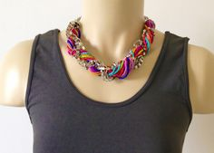 Chain MultiColored Necklace