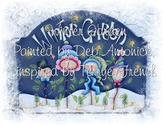 EPattern  Winter Garden by PaintingwithDeb on Etsy, $5.00