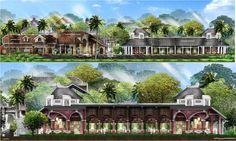 Resort Plan, Sketch Design, Landscape Design, House Plans, Mansions, House Styles, Sun, Group, Manor Houses