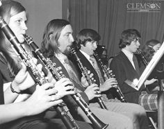 Concert Band in the 1970s by clemsonunivlibrary, via Flickr