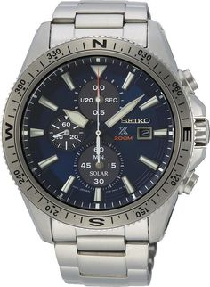 Seiko Watch Prospex Land Solar Chronograph- Watch Available to buy online. Used Watches, Watches For Men, Seiko Solar, Solar Watch, Seiko Men, Seiko Watches, Luxury Watches, Dream Watches, Metal Bracelets