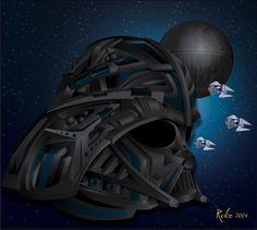 Darth Vader fusión de ilustración y graffiti 3D #rekorises