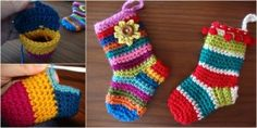 The Perfect DIY Rainbow Crochet Christmas Socks with Free Pattern