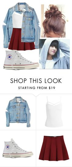 """""""Hangout with Bts Taehyung"""" by pandagirl2102 on Polyvore featuring Sans Souci, Converse and Outstanding Ordinary"""