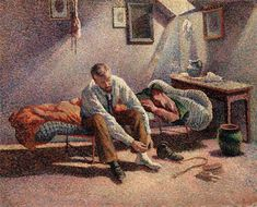 Maximilien Luce (1858–1941) Morning Interior, 1890, Oil on canvas,  How to Talk About Painting | MutualArt
