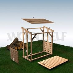 Ryan Shed Plans Shed Plans and Designs For Easy Shed Building! Diy Storage Shed, Wood Storage Sheds, Outdoor Storage Sheds, Outdoor Firewood Rack, Firewood Shed, Firewood Storage, Backyard Sheds, Backyard Landscaping, Bbq Shed