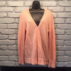 J. Crew fuzzy peach cardigan Peach fuzzy J. Crew cardigan. Only worn twice. Has been dry cleaned. Very soft and adorable! No flaws, looks brand new! Size large.                         NO TRADES/ PAYPAL ✔DON'T ASK FOR MY LOWEST PRICE, PLEASE USE OFFER BUTTON ❤️BUNDLE TO SAVE! ⏳I ONLY HOLD ITEMS FOR 24 HOURS J. Crew Sweaters Cardigans