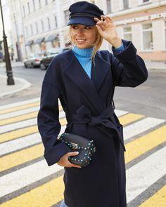 Пальто Кимоно темно-синий (арт.СО-003)