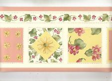 Wallpaper Border Waverly Framed Roosters On Tan /& Green