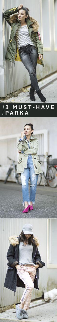Der Parka gehört zum Herbst wie die goldenen Blätter. Wie du das Must-have-Keypiece in drei verschiedenen Outfits einbindest, zeigt dir unsere Fashion-Queen Eylem in einer neuen Folge von Fashion & Lifestyle – powered by OTTO.