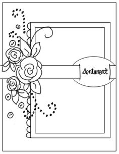 Several FREE Templates! Quintessentially Me: Card Sketches