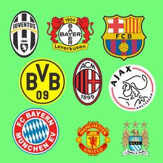 Clubs participating in European Cups since 1955 European Cup, European Football, Club, Logos, European Soccer, Futbol, Logo