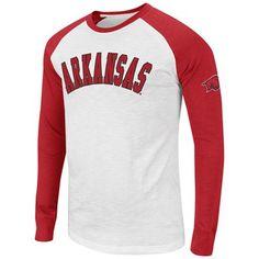 Arkansas Razorbacks Raglan Long Sleeve T-Shirt - Cardinal/White