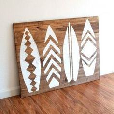 How to make wall art/a headboard with a surfboard theme. The instructions are gr… How to make wall art/a headboard with a surfboard theme. The instructions are great! Home Beach, Beach Art, Beach House Decor, Home Decor, Beach Room Decor, Beach Houses, Decoration Surf, Surf Decor, Wall Decor