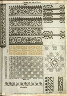 Folk Embroidery, Embroidery Patterns, Cross Stitch Flowers, Star Patterns, Pattern Books, Cross Stitching, Romania, Blackwork, Needlepoint