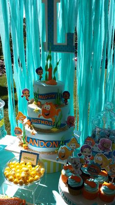 Bubble guppies on candy table | Mick's Sweets - Flickr - Photo Sharing!