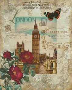 Cross Stitch Chart Eternal London DOWNLOAD by TiltonCrafts on Etsy, $15.00