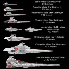 Republic Star Destroyers - definitely a need to know :P