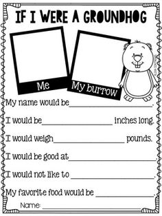 Groundhog Day {Craft and fun activities in English and Spanish}