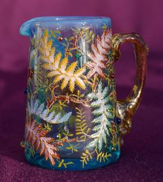 Buy online, view images and see past prices for Moser Enamel Art Glass Pitcher w/Ferns. Invaluable is the world's largest marketplace for art, antiques, and collectibles. Mosaic Glass, Glass Art, Pots, Old Vases, Sandblasted Glass, Crystal Glassware, Art Nouveau Design, Ludwig, Glass Pitchers