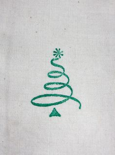 Green Christmas Tree Muslin Gift Bags 3x5 by SammysCraftShop