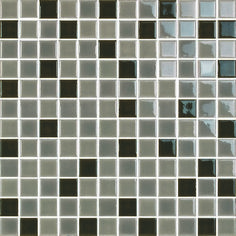 "H-Line 1"" x 1"" - Pearl/Cafe/Nautilus Mosaic By SouthCypress.com"