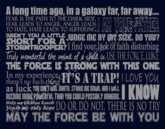"Star Wars Art Quote Inspired Typography Print 11"" by 14"" MTM Pottery Barn Kids Bedding. $30.00, via Etsy."