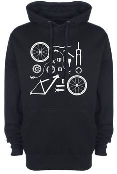 Bicycle Bike Parts Mens Womens Hoodie Mtb Mountain Biking Road Racing BMX Bike… Mountain Biking Women, Mountain Bike Shoes, Buy Bike, Bike Run, Racing Bike, Armani Jeans, Velo Retro, Bicycle Maintenance, Cool Bike Accessories